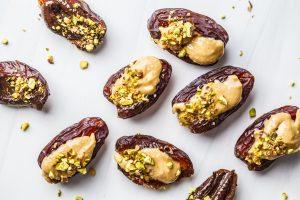 Almond Butter Stuffed Dates