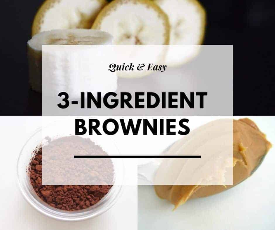 3 ingredient brownies